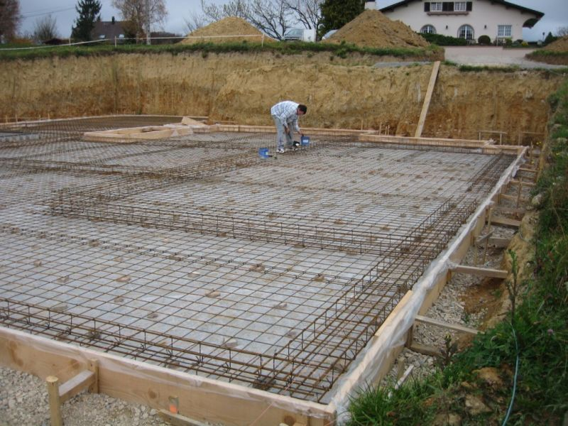 D le ferraillage auto construction en b ton cellulaire for Radier piscine beton