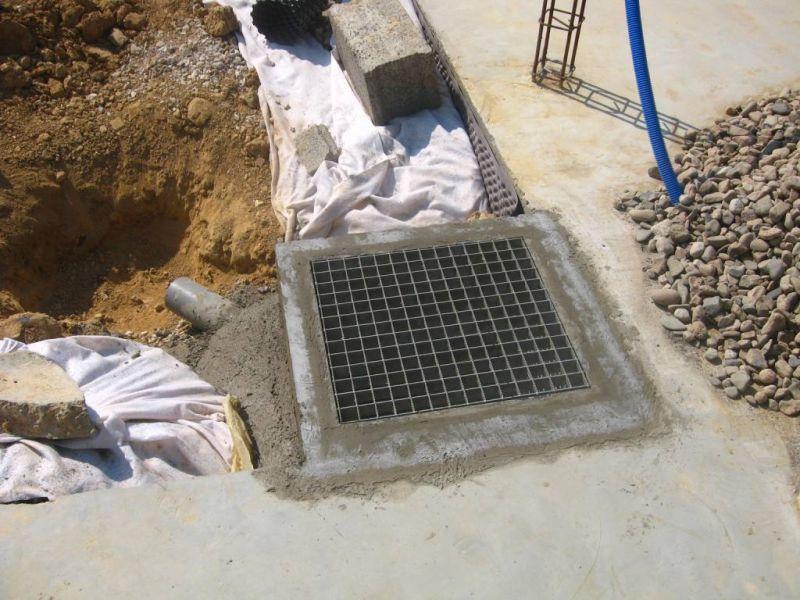 9 le drainage auto construction en b ton cellulaire en - Grille evacuation eau ...