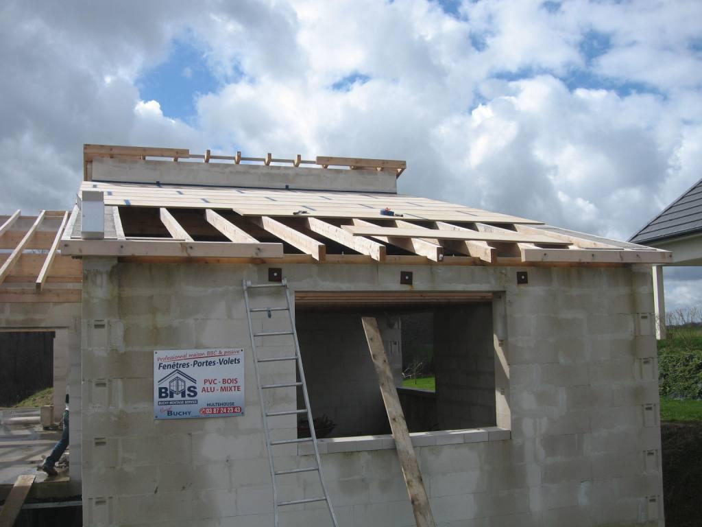 15 la toiture auto construction en b ton cellulaire en alsace. Black Bedroom Furniture Sets. Home Design Ideas