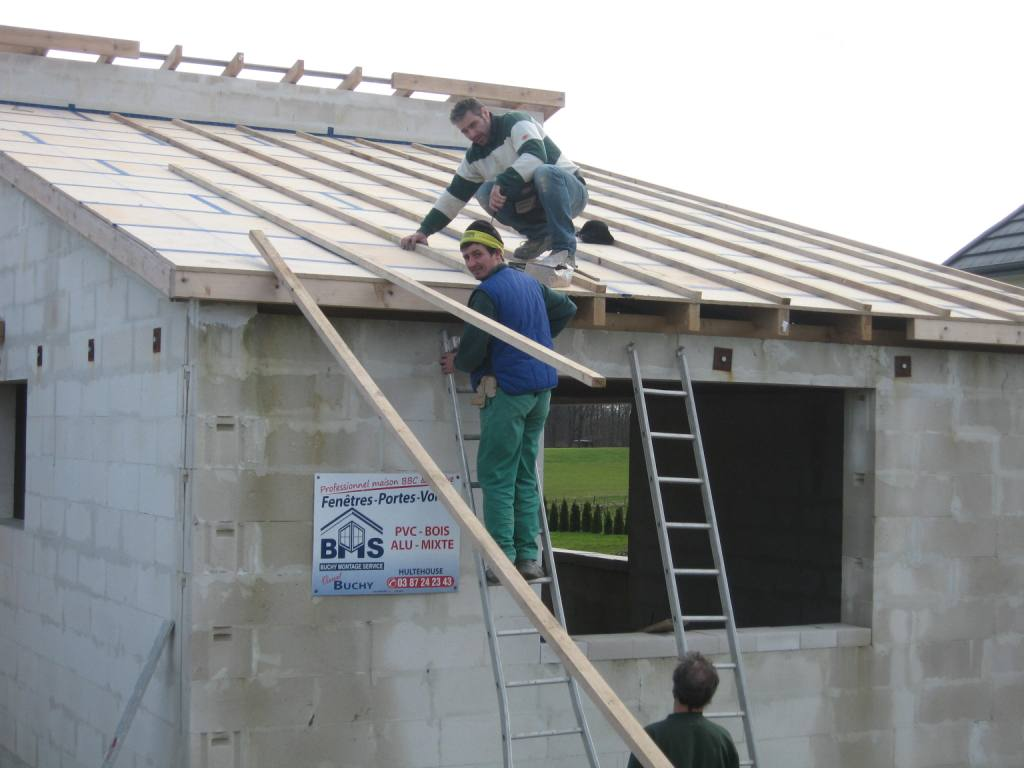 Toiture beton cellulaire